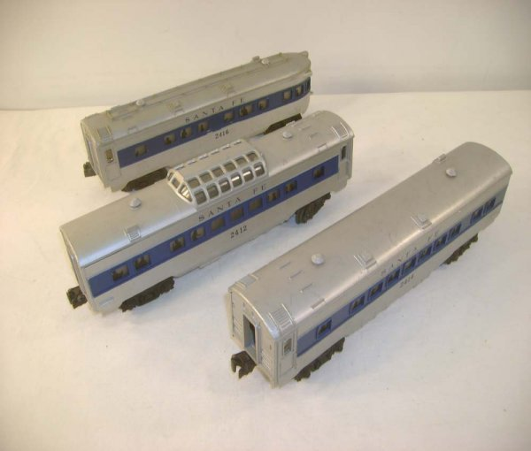823: ABT: Lionel #2412/4/6 Blue Stripe SF Passenger Car
