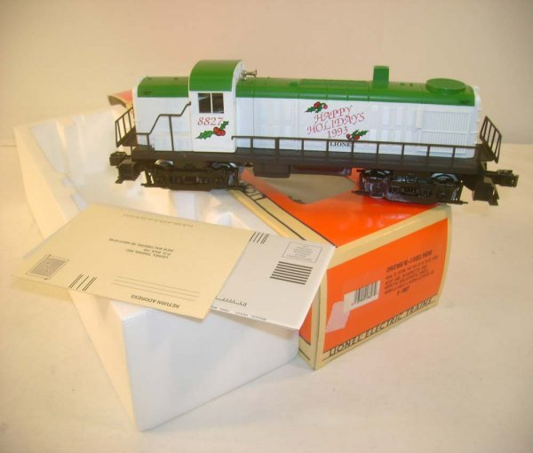 1008: ABT: Mint Lionel #18827 Christmas RS-3 Diesel/OB