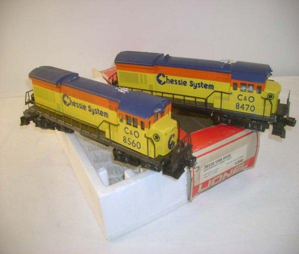 1012: ABT: Lionel #8470/#8560 Chessie U36B Diesels/OB