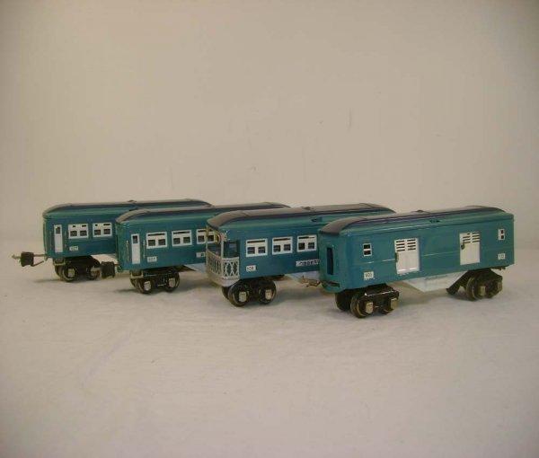 4: ABT: Lionel #603/607/607/608 Blue Comet Passenger Ca