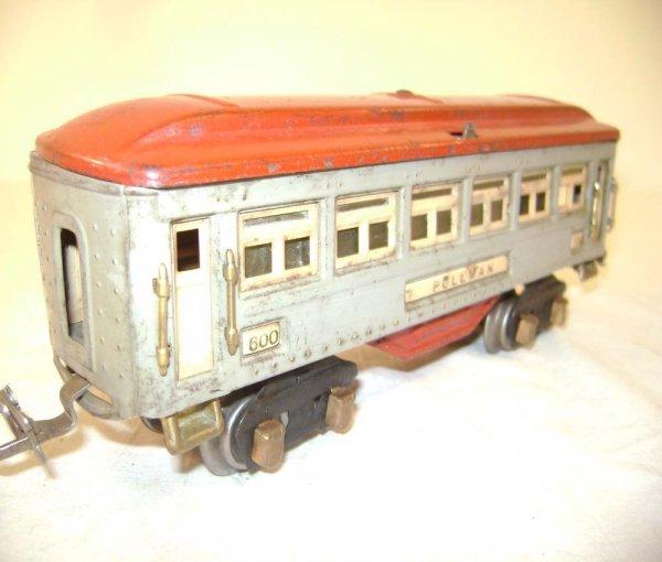 8: ABT: Lionel #600/#601/#602 Light Gray/Red Passenger