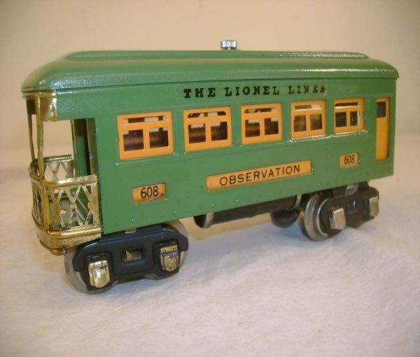 9: ABT: Lionel #607/#607/#608 Peacock Passenger Cars (R
