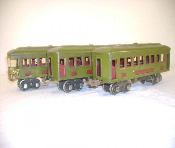 13: ABT: Lionel #610/610/612 Olive Green Passenger Cars