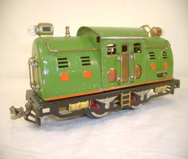 14: ABT: Lionel #254E Pea Green Electric Engine w/Orang