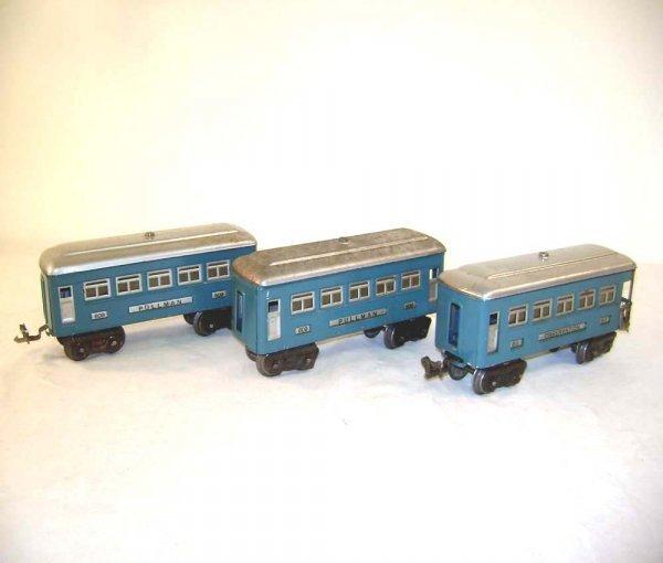 19: ABT: Lionel #609/609/611 Blue/Silver Passenger Cars