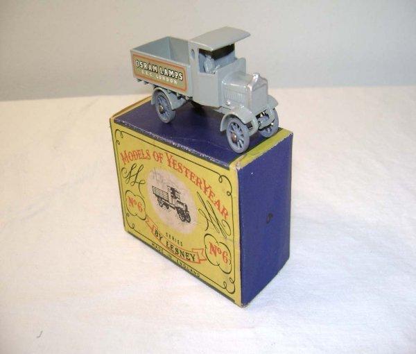 708: ABT: Mint Matchbox Y-6 1916 AEC Y Type Lorry/OB