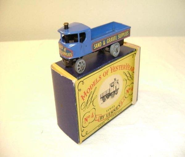 712: ABT: Mint Matchbox Y-4 1928 Sentinel Steam Waggon/