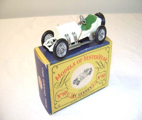 714: ABT: Mint Matchbox Y-10 1908 Grand Prix Mercedes/O