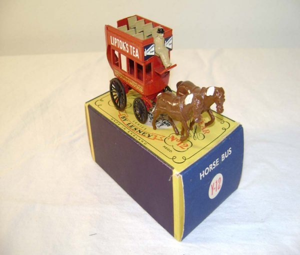718: ABT: Mint Matchbox Y-12 1899 London Horse Drawn Bu