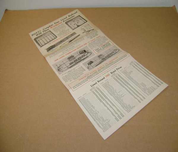 997: ABT: Lionel 1921 Catalog Flyer and Revised Price L