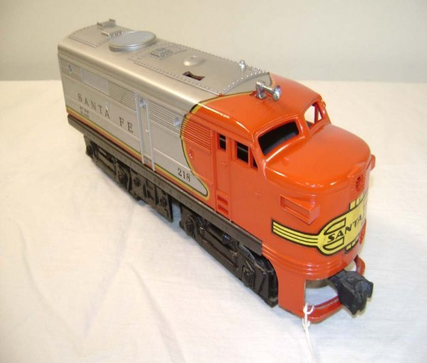 1008: ABT: Lionel #218P SF Alco A w/Yellow Nose Decal