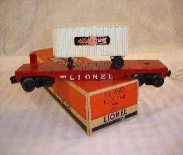 3: ABT:Great Lionel #6810 Flat Car w/Trailer/OB