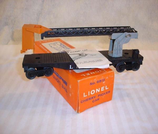 4: ABT:Mint Lionel #6512 Cherry Picker Car/Brick OB+