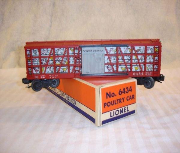 6: ABT:Mint Lionel #6434 Illuminated Poultry Car/58OB