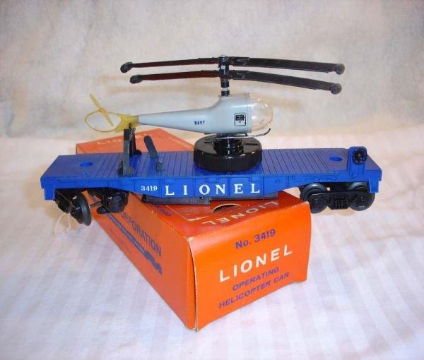 7: ABT:Lionel #3419 Helicopter Car/Big Winder/OB+