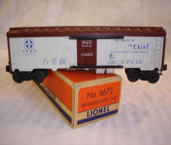 9: ABT:Mint Lionel #6672 Santa Fe Blue Lettering/OB