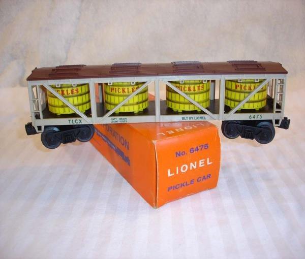 12: ABT:Mint Lionel #6475 Pickles Vat Car/Brick OB