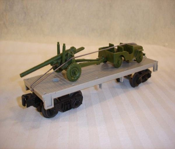 14: ABT:Rare Lionel #(6401) Unmarked Gray Flat w/Jeep &