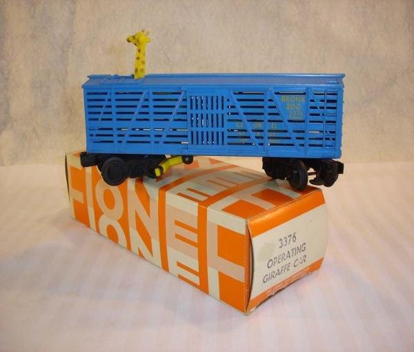 18: ABT:Lionel #3376 Giraffe Car w/Yellow Lettering/69O