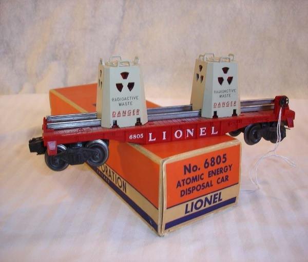 23: ABT:Great Lionel #6805 AEC Flat Car/Scare 58B Box