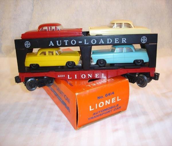 24: ABT:Scarce Lionel #6414 1959 AutoLoader/Mustard Yel