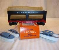 76: ABT:Mint Lionel #6416 Boat Loader/Nice OB