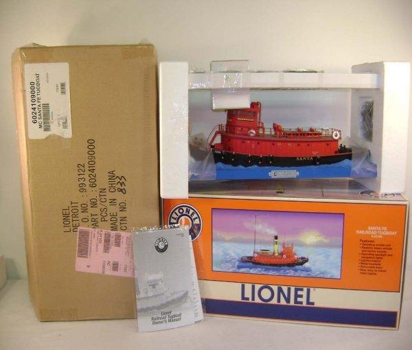 3: ABT: Mint Lionel #24109 SF Railroad Tugboat/OB