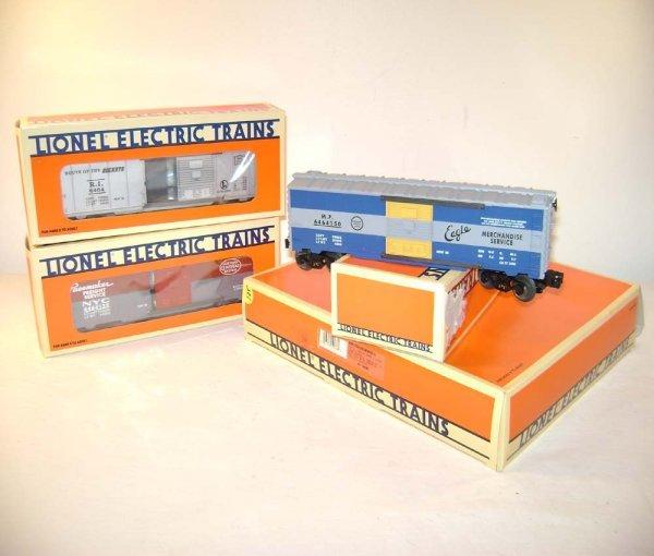 8: ABT: Mint Lionel #19266 6464 Series III Box Cars/OB