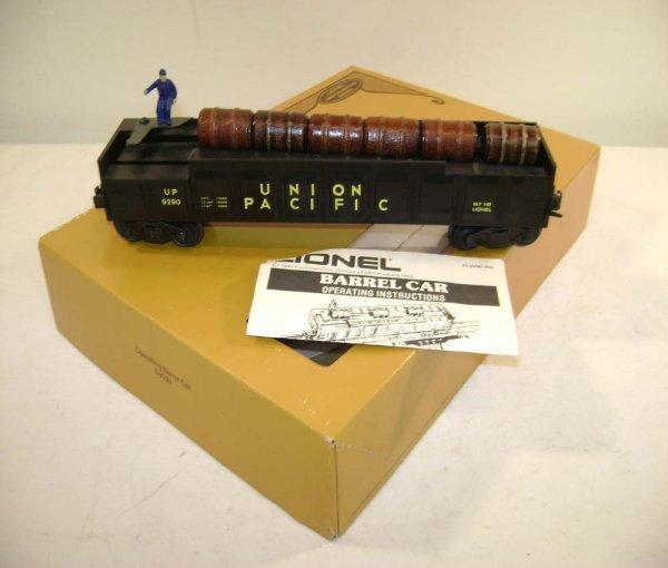 9: ABT: Lionel #9290 UP Operating Barrel Car/OB