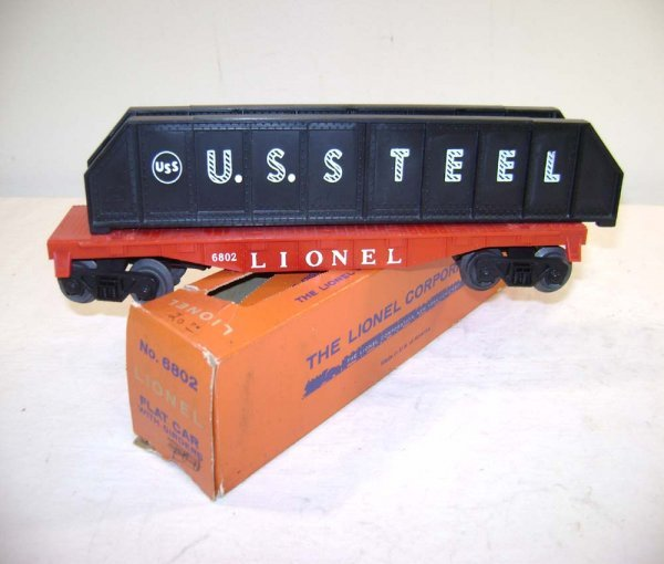 811: ABT: Lionel #6802 Flat Car with Girders/OB