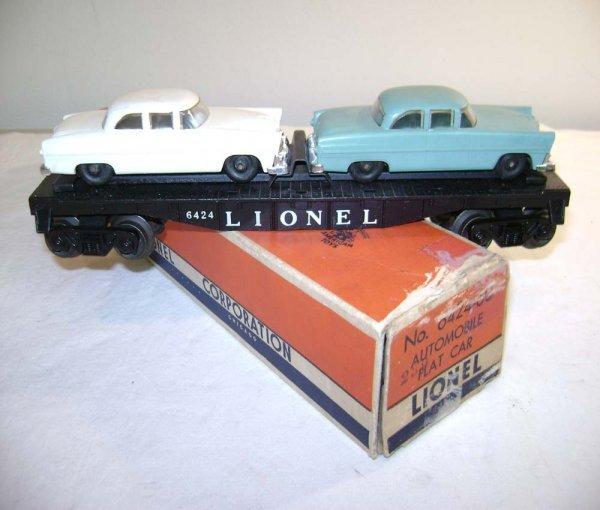 812: ABT: Lionel #6424-60 Automobiles/#s Left/OB