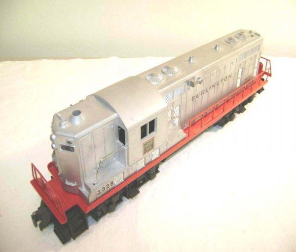 818: ABT: Lionel #2328 Burlington Silver GP-7 Diesel