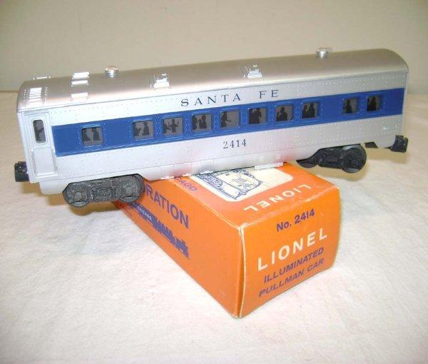 819: ABT: Lionel #2414 Santa Fe Blue Stripe Pullman/OB