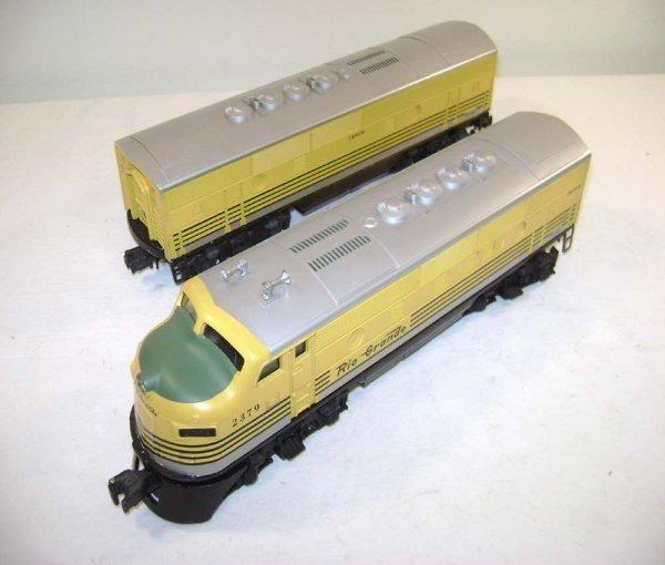 850: ABT: Lionel #2379 D & RG F-3 AB Diesels