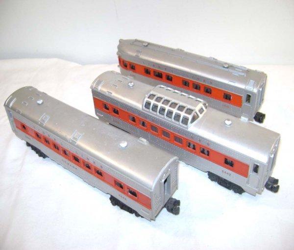954: ABT: Lionel #2442/2444/2446 Red Stripe Passenger C