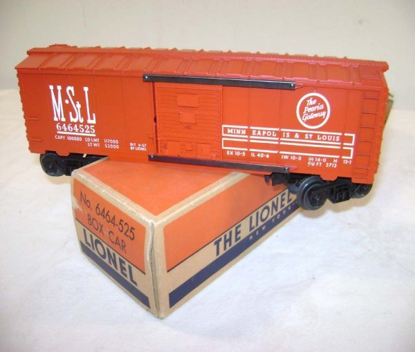 3: ABT: Lionel #6464-525 M&StL Box Car/Type III/ OB