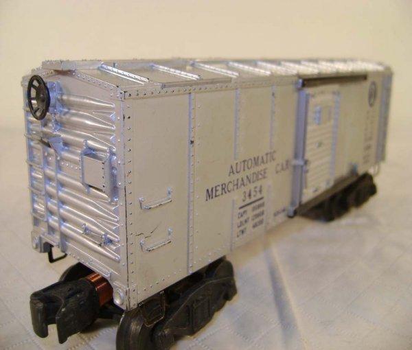 243: ABT: Lionel #3454 Silver Merchandise Car/OB - 10