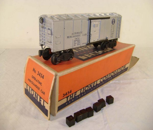 243: ABT: Lionel #3454 Silver Merchandise Car/OB