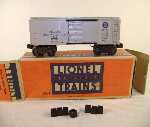 243: ABT: Lionel #3454 Silver Merchandise Car/OB - 2