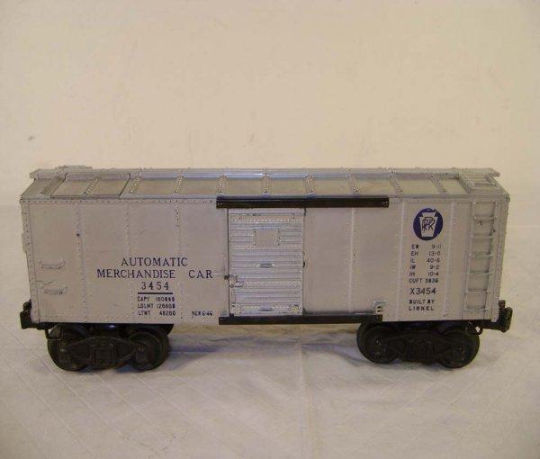 243: ABT: Lionel #3454 Silver Merchandise Car/OB - 3