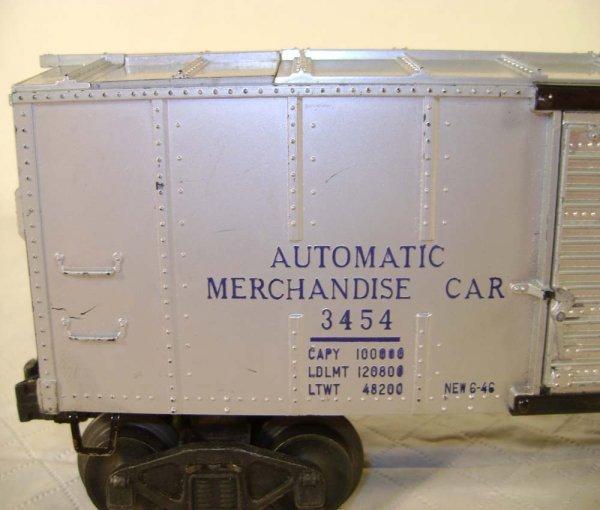 243: ABT: Lionel #3454 Silver Merchandise Car/OB - 4