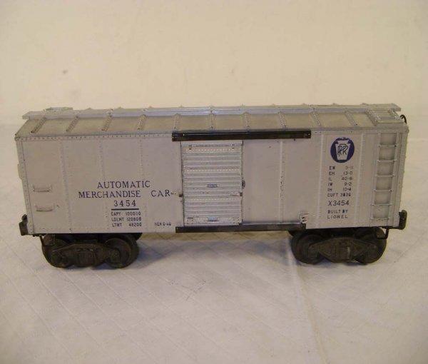243: ABT: Lionel #3454 Silver Merchandise Car/OB - 6