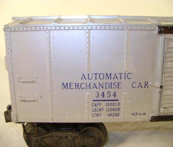 243: ABT: Lionel #3454 Silver Merchandise Car/OB - 7