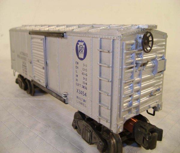 243: ABT: Lionel #3454 Silver Merchandise Car/OB - 9