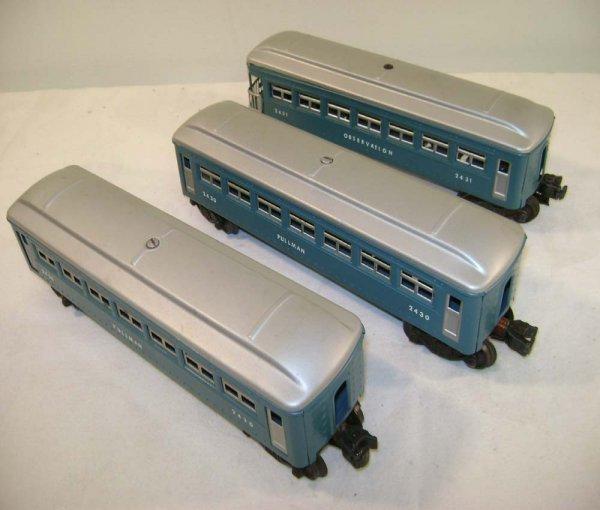251: ABT: Lionel #2430/0/1 Blue & Silver Passengers ®
