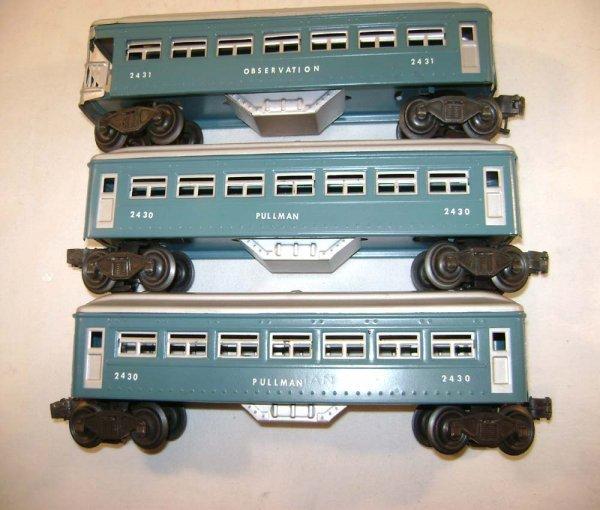 251: ABT: Lionel #2430/0/1 Blue & Silver Passengers ® - 2