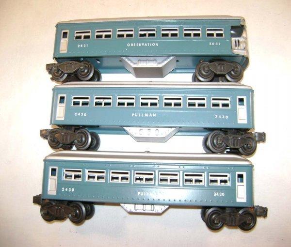 251: ABT: Lionel #2430/0/1 Blue & Silver Passengers ® - 3
