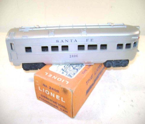 253: ABT: Lionel #2406 Santa Fe Passenger Car/OB