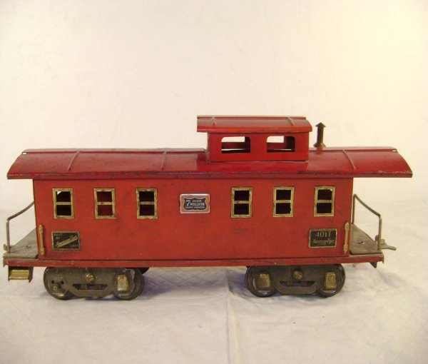 581: ABT: AF #4011 Red Wide Gauge Caboose