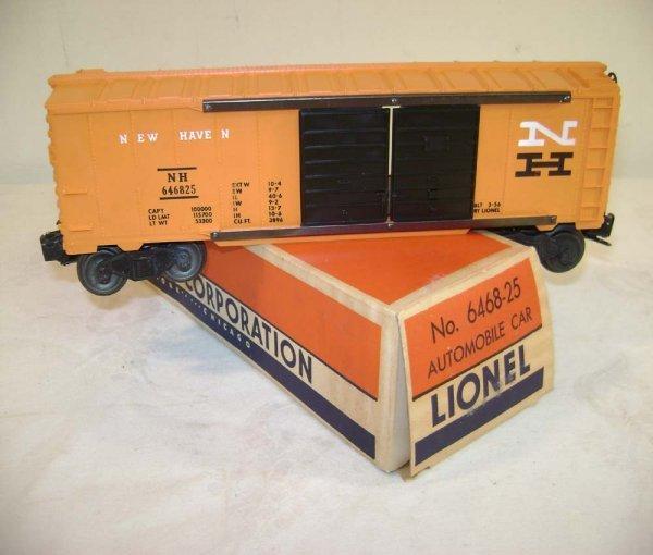 807: ABT: Lionel #6468-25 NH Auto Box Car/White N/OB